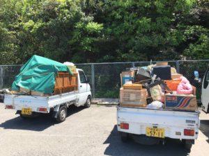 不用品2トン1車、軽トラ2車分回収、二層式洗濯機、業務用ストーブ 買取