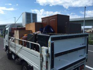 不用品回収(家具、洋ダンス、和ダンス、水屋、応接ソファ、テーブル、ベッド)