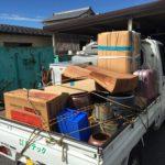 スタッフ4名で家電リサイクル品等の回収(松山市船ヶ谷町)