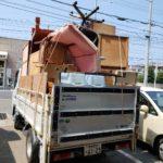 引っ越し不用品回収、トラック山盛りパック(松山市食場町)