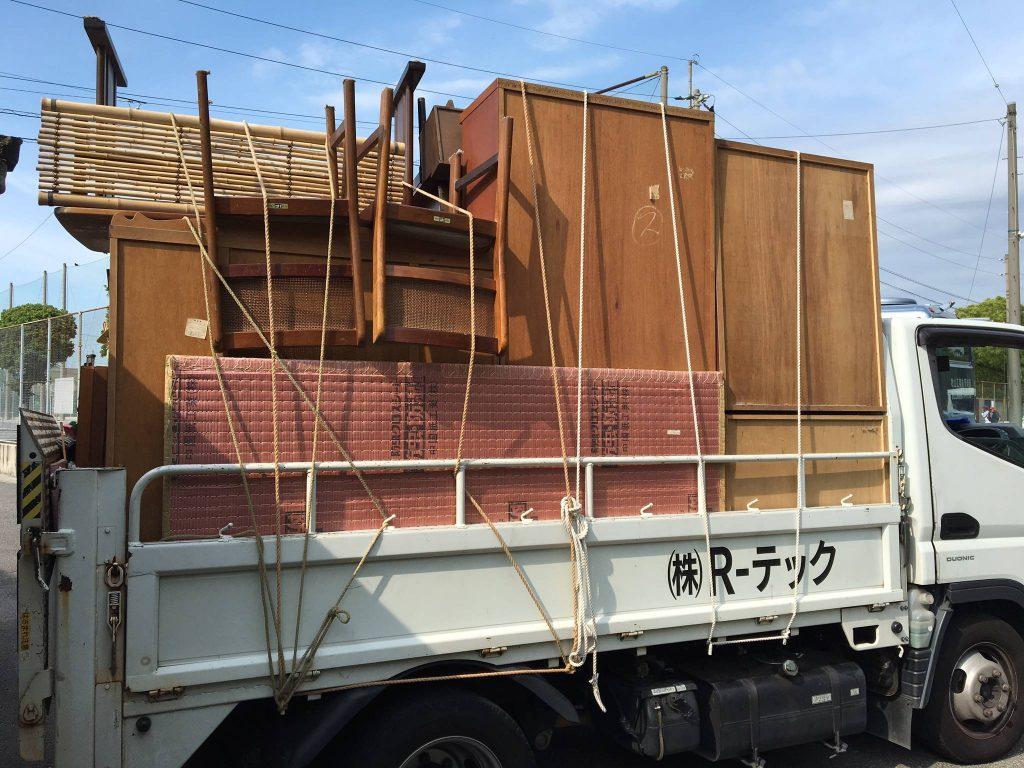 2日間に渡っての不用品回収(愛媛県松山市中須賀)