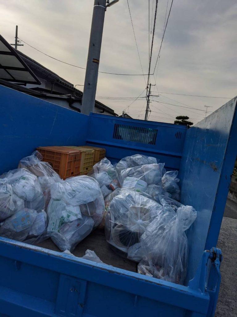 伊予郡松前町、片付けに伴う不用品回収、分別作業あり