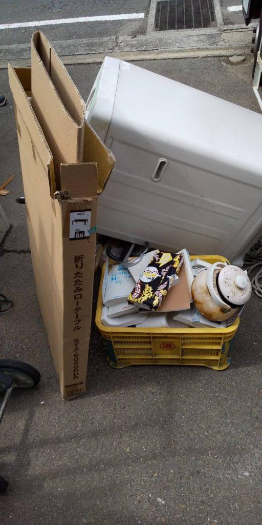 不用品回収とゴミ回収(愛媛県松山市中村・清水町)