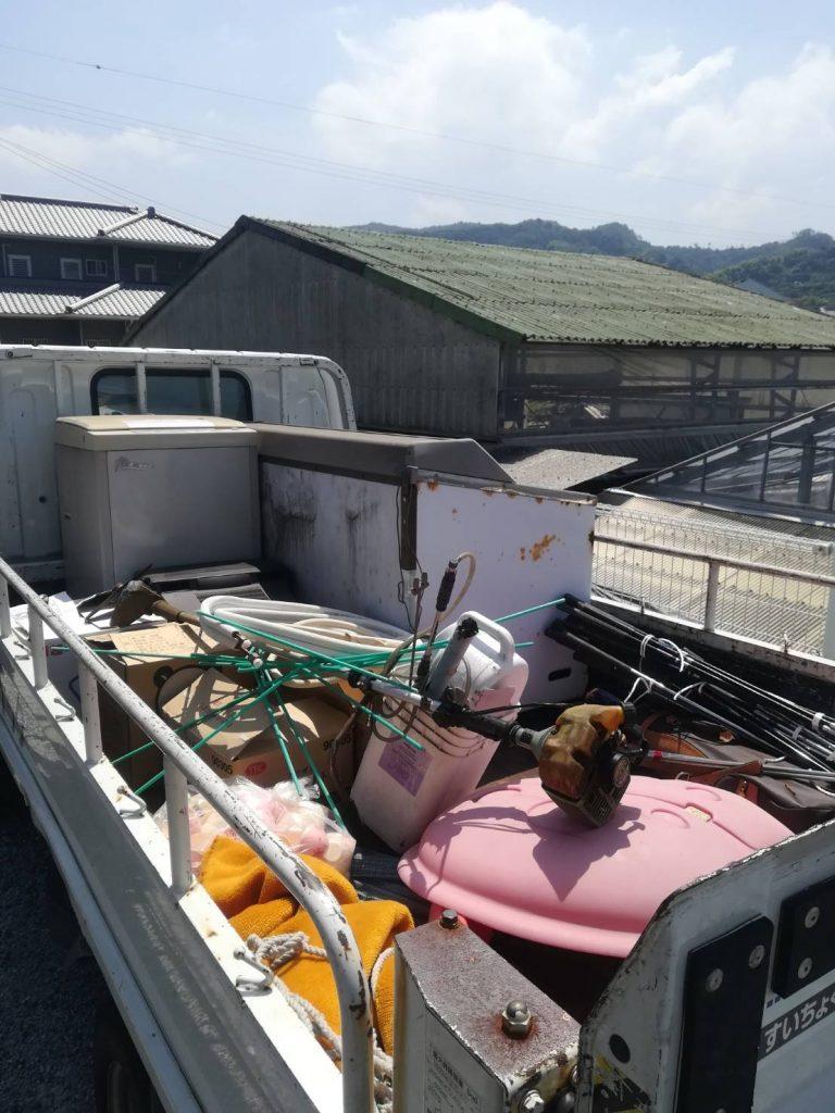 ゴミ処分と家電買い取りリピートのお客様(愛媛県伊予市)