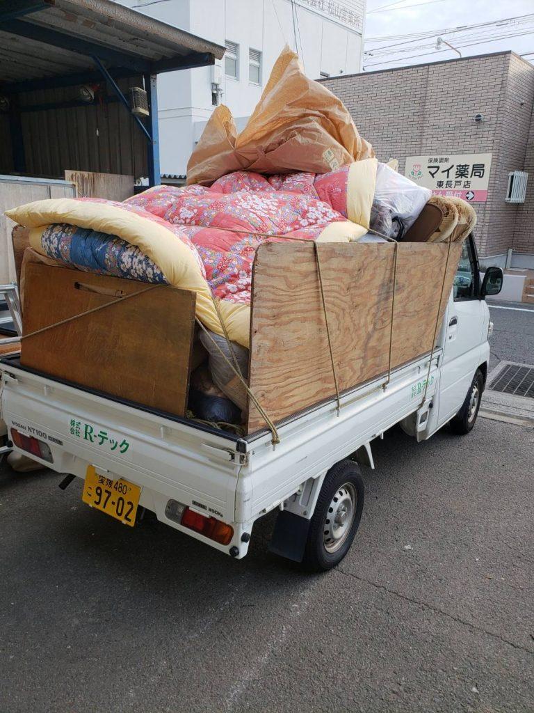 軽トラ満載の不用品回収(伊予郡松前町)