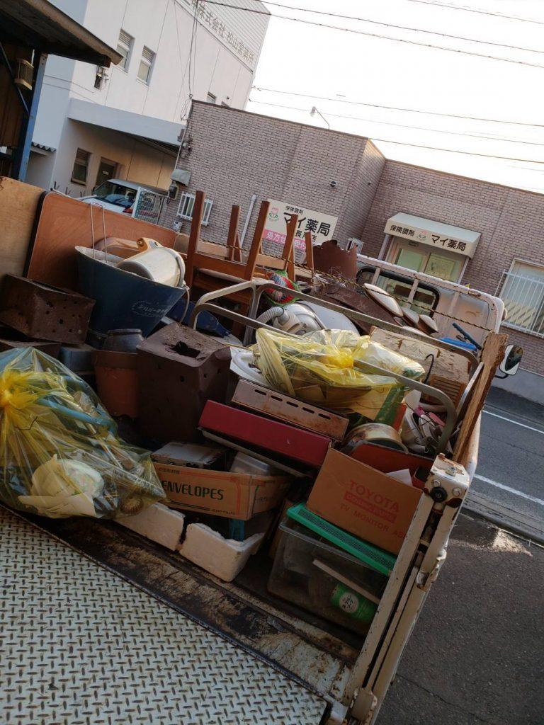 3回目のお客様(愛媛県伊予市)未分別ゴミ、不用品回収