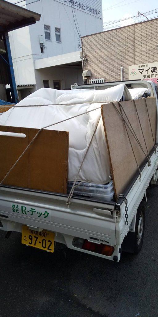 引っ越しに際しての不用品回収(松山市西石井)