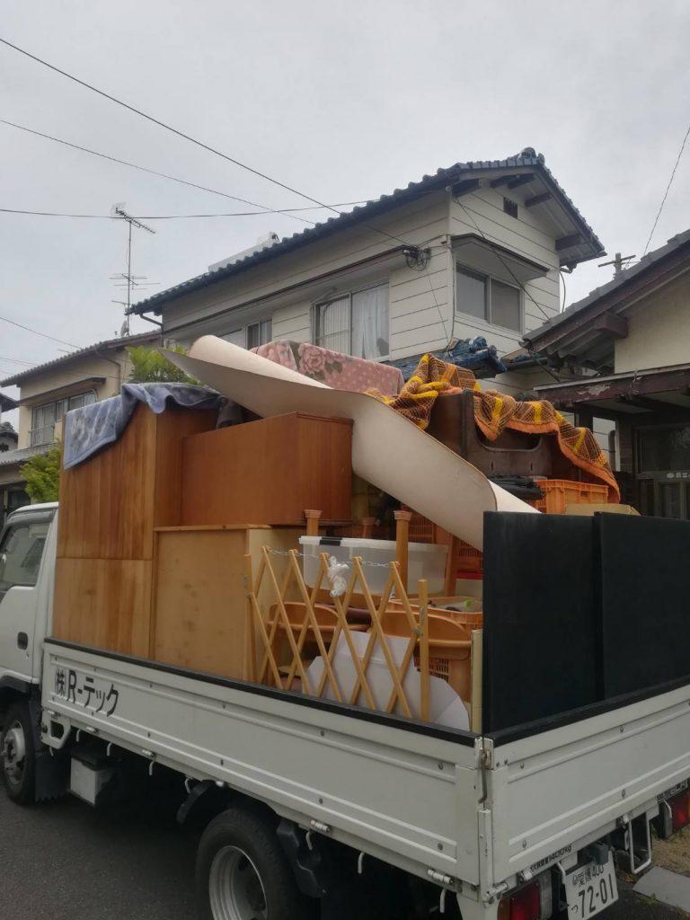 家一軒全撤去、不用品回収。洗濯機、TVなどの買い取り。