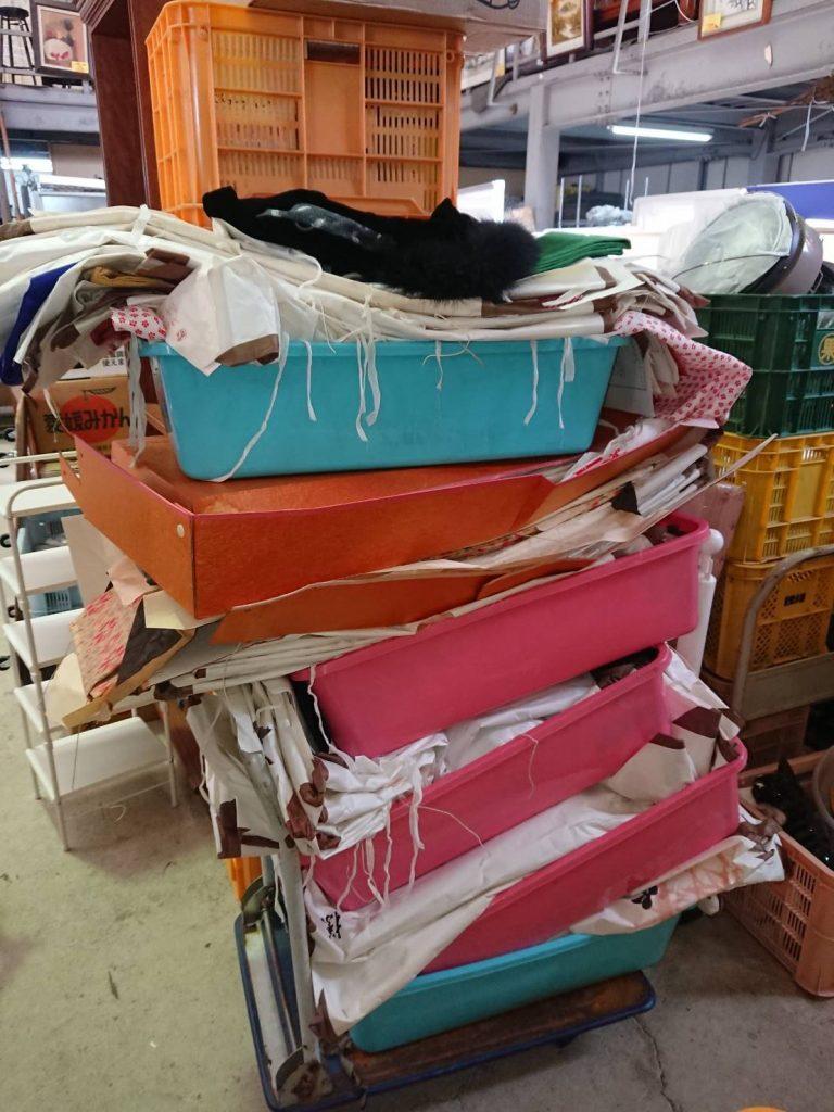 スタッフ6名で大量の不用品回収と買取(松山市竹原)