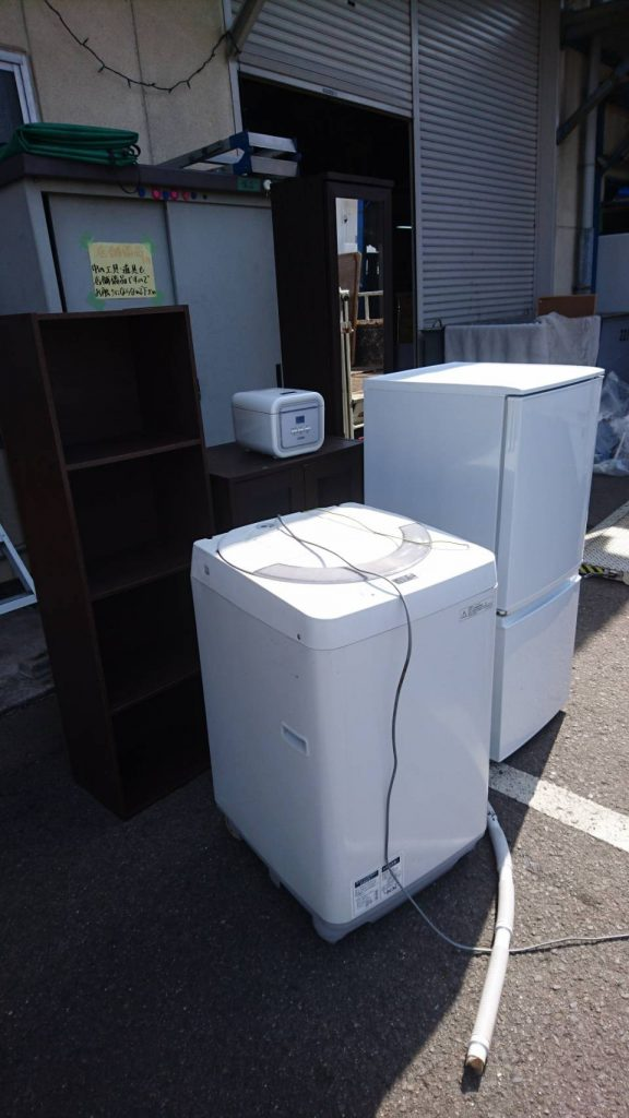 冷蔵庫、洗濯機、炊飯器、小水屋など買取