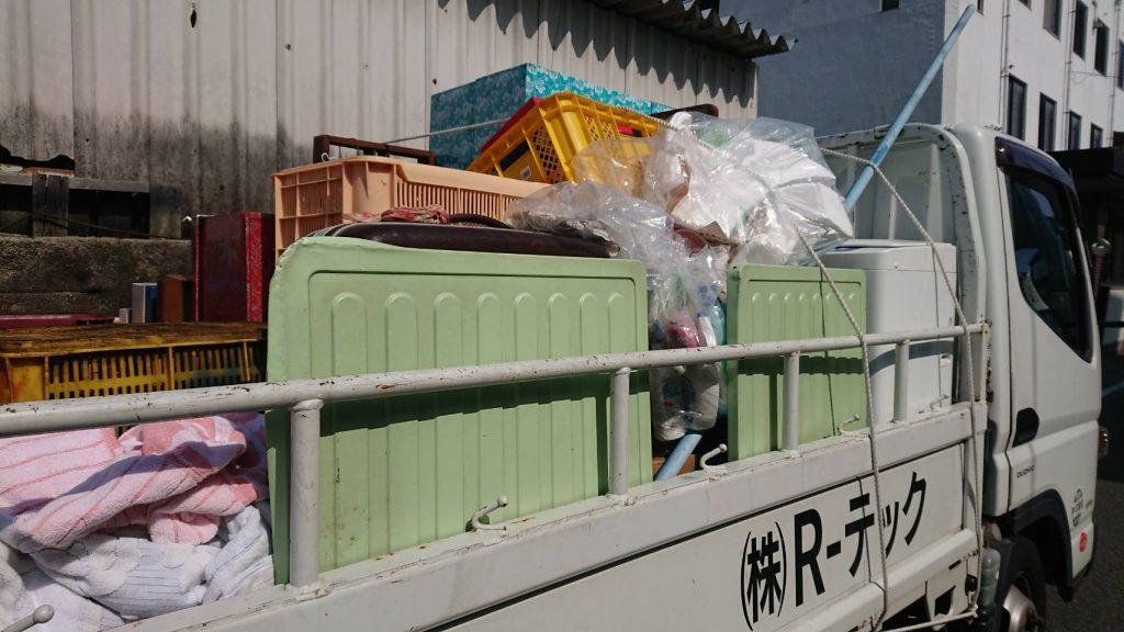 片付けに伴う不用品回収(松山市枝松)買い取り有り