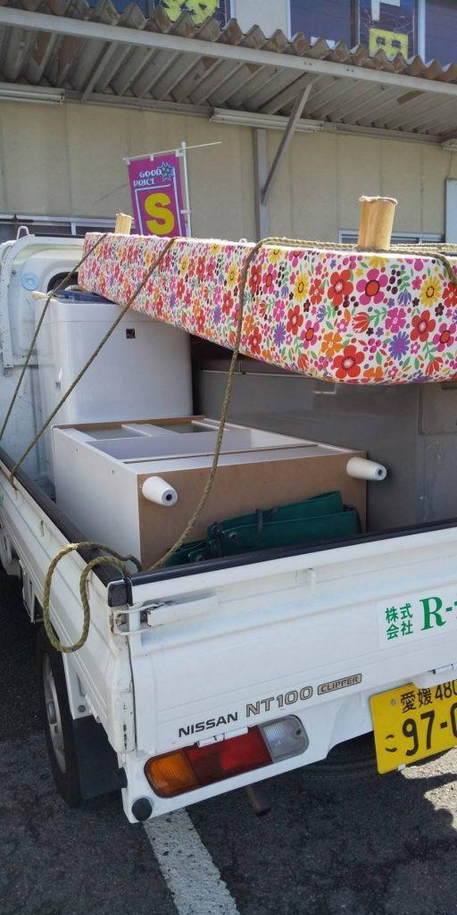 引っ越しに伴う不用品回収(愛媛県松山市立花)