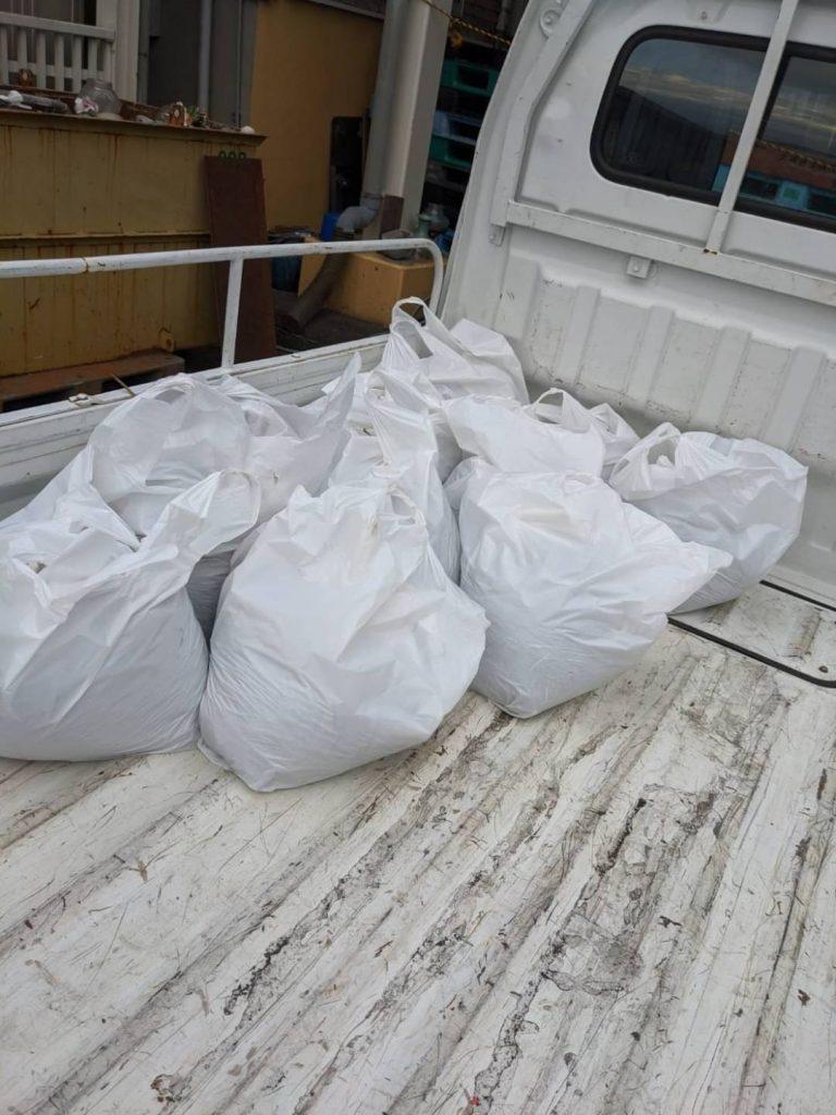 東温市南方、片付けに伴う不用品回収、土