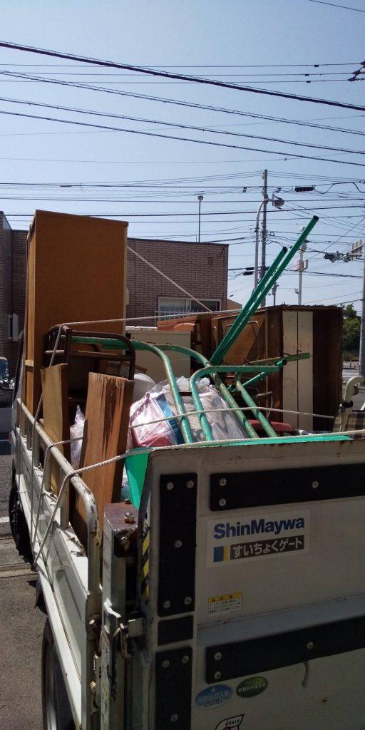 お家の片付けに伴う不用品回収【松山市堀江町】