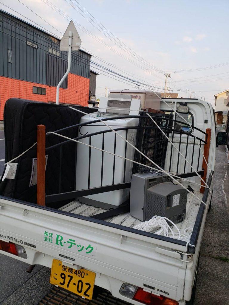 引っ越しに伴う不用品回収、キッチンカウンターは買い取り(愛媛県松山市久万ノ台)