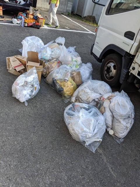 松山市山越、片付けに伴う不用品回収