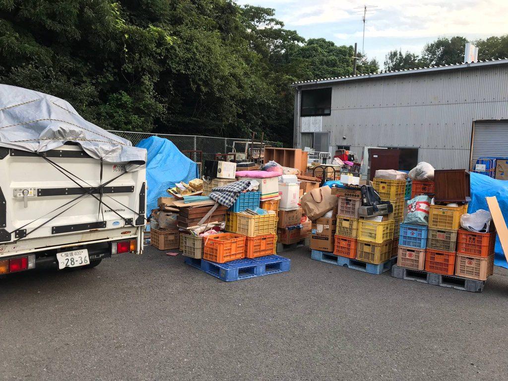 愛媛県新居浜市で2日間に渡っての不用品回収