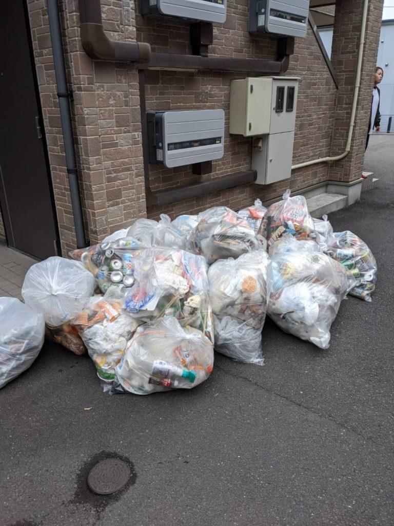 松山市祝谷、片付けに伴う不用品回収、お客様分別済