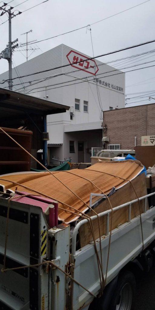 お家の片付けに伴う不用品回収とゴミの処分【松山市石手】