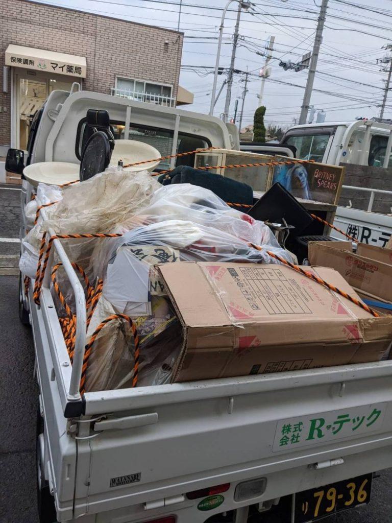 松山市千舟町、片付けに伴う不用品回収