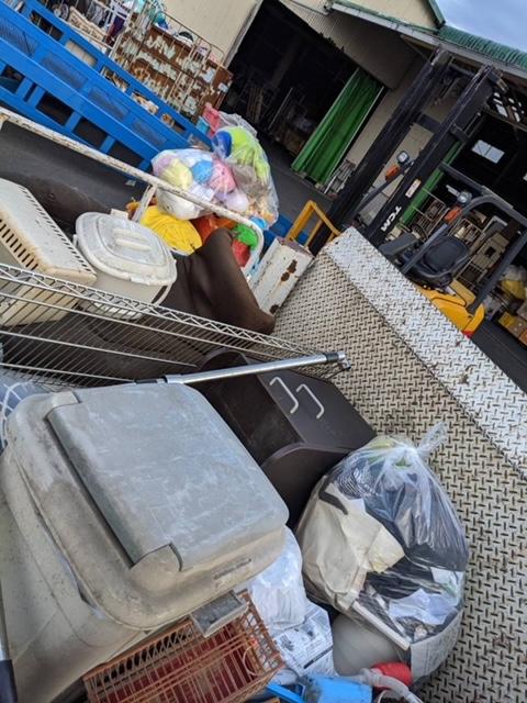 松山市土居田町、片付けに伴う不用品回収