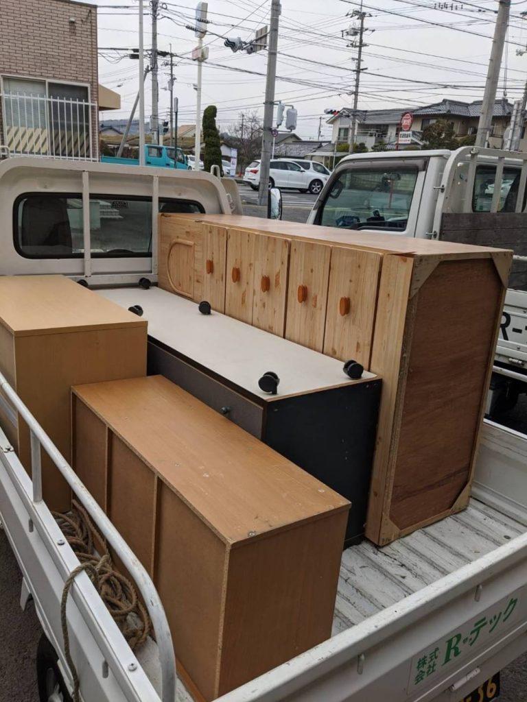 松山市枝松、片付けに伴う不用品回収