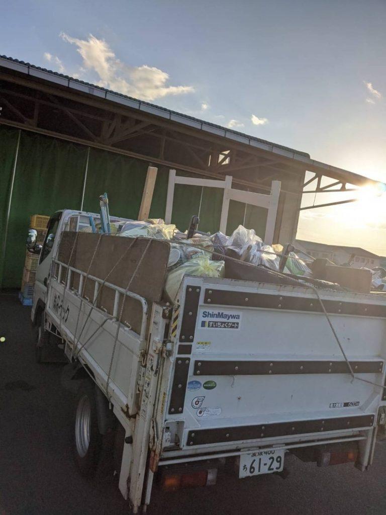 松山市小栗、片付けに伴う不用品回収
