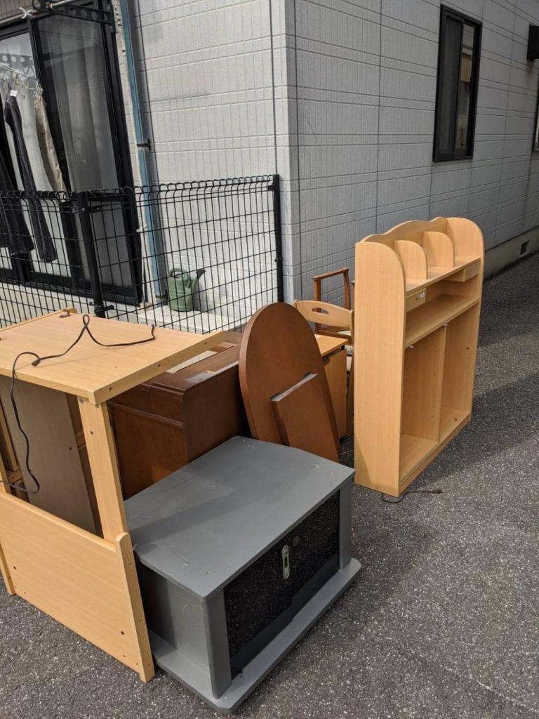 松山市北条、片付けに伴う不用品回収