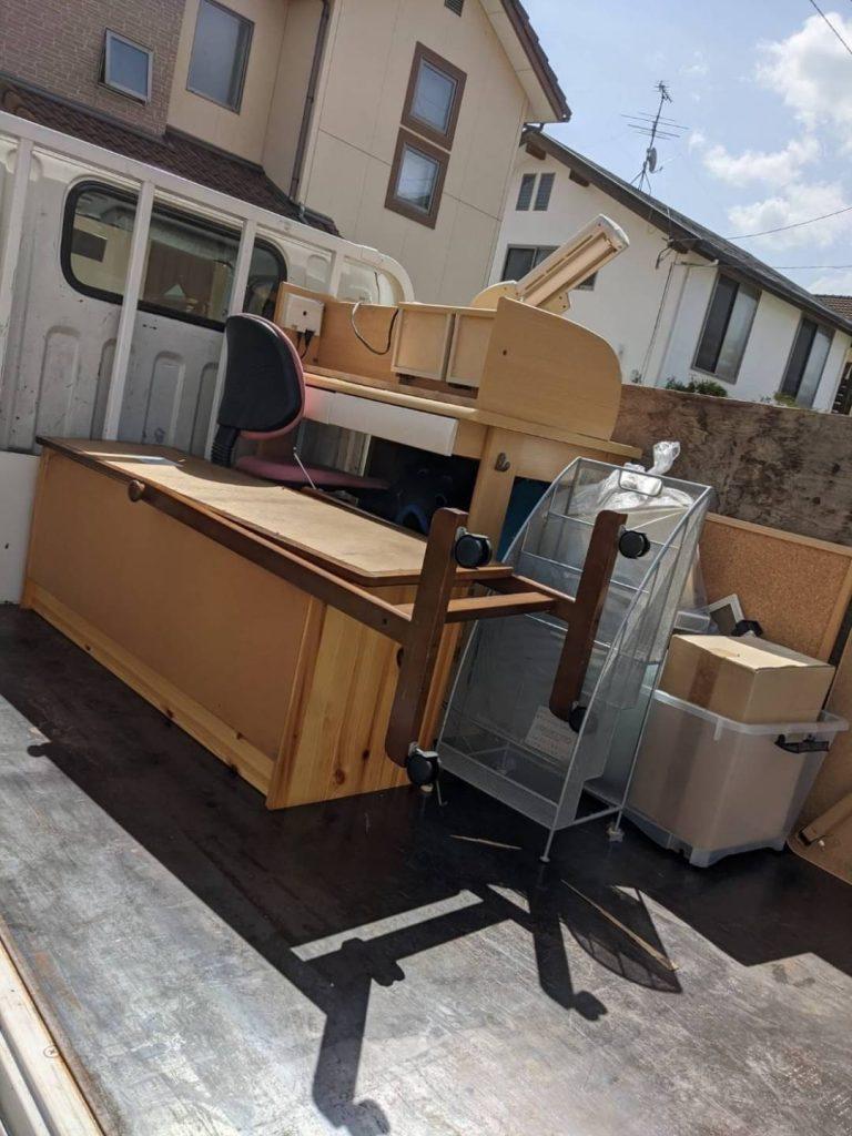 松山市安城寺、片付けに伴う不用品回収