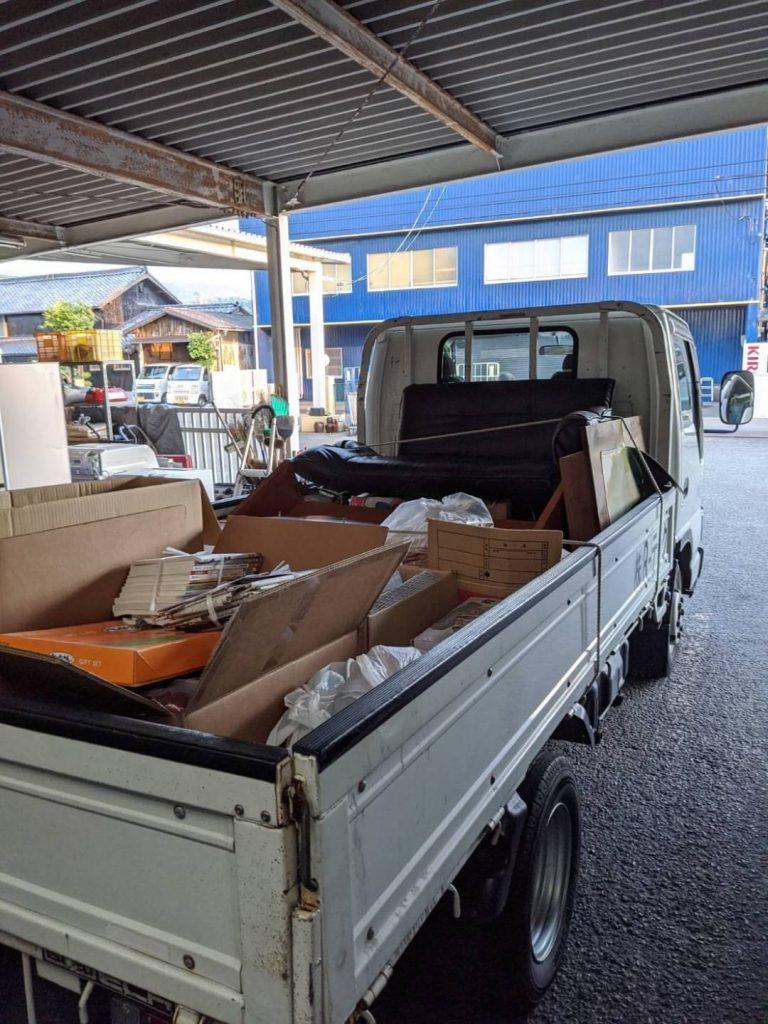 松山市畑寺、片付けに伴う不用品回収