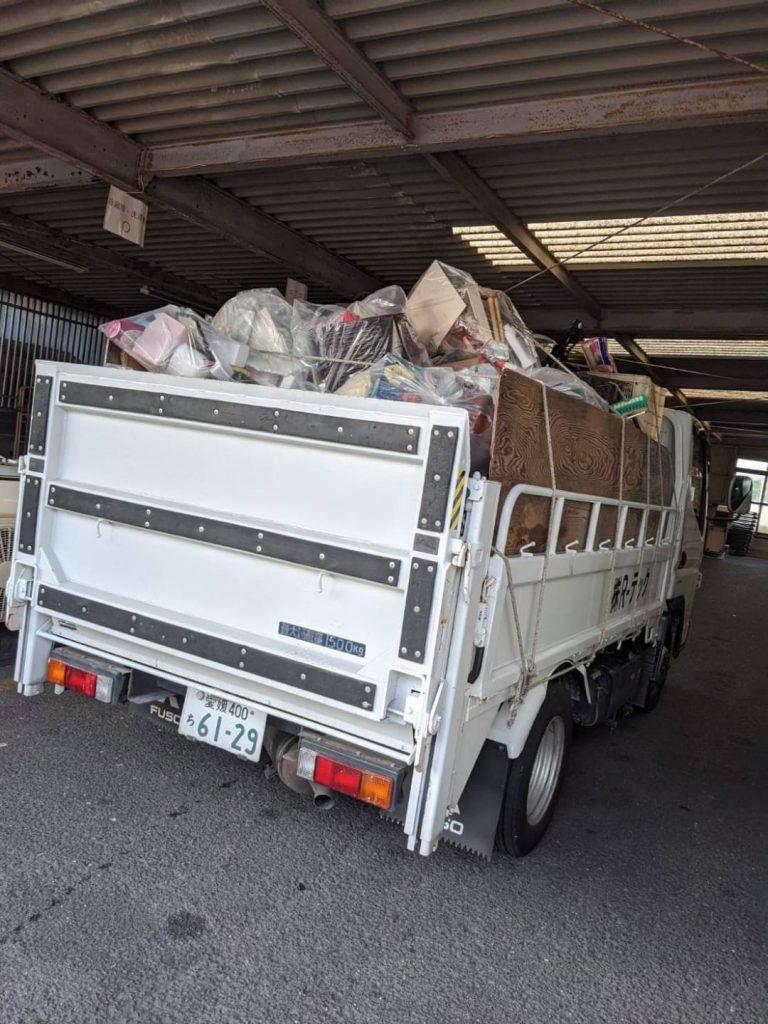 松山市枝松、引っ越しに伴う不用品回収