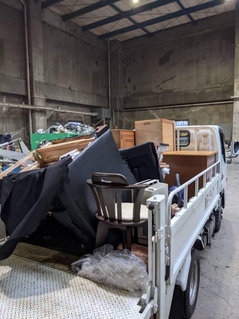 伊予市米湊、片付けに伴う不用品回収