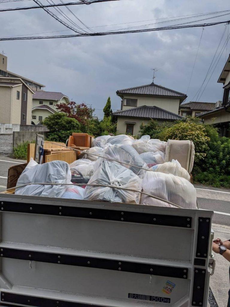 松山市空港通り、片付けに伴う不用品回収