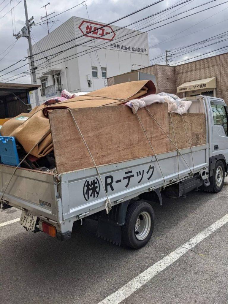 松山市美沢、引っ越しに伴う不用品回収
