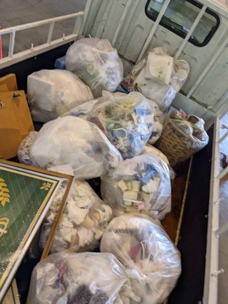 松山市山越、片付けに伴う不用品を回収